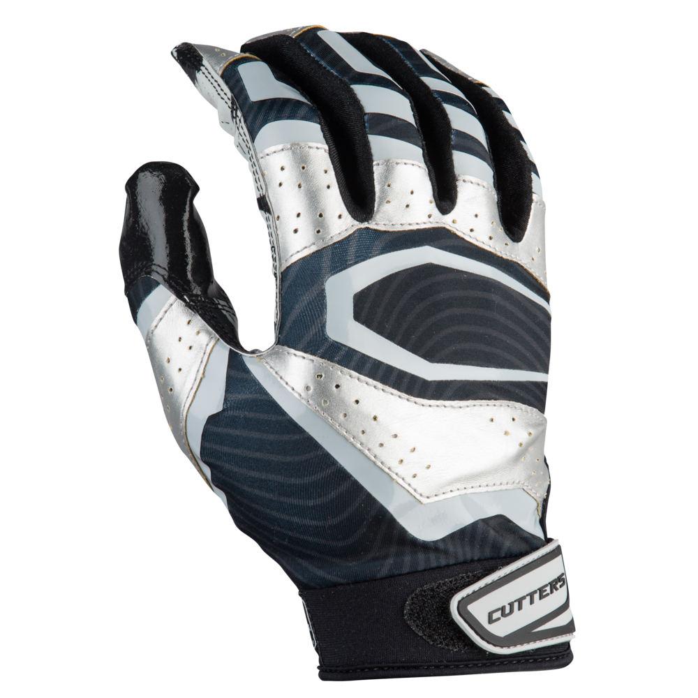 カッターズ Cutters メンズ アメリカンフットボール レシーバーグローブ グローブ【Rev Pro 3.0 Metallic Receiver Gloves】Black/Metallic Silver