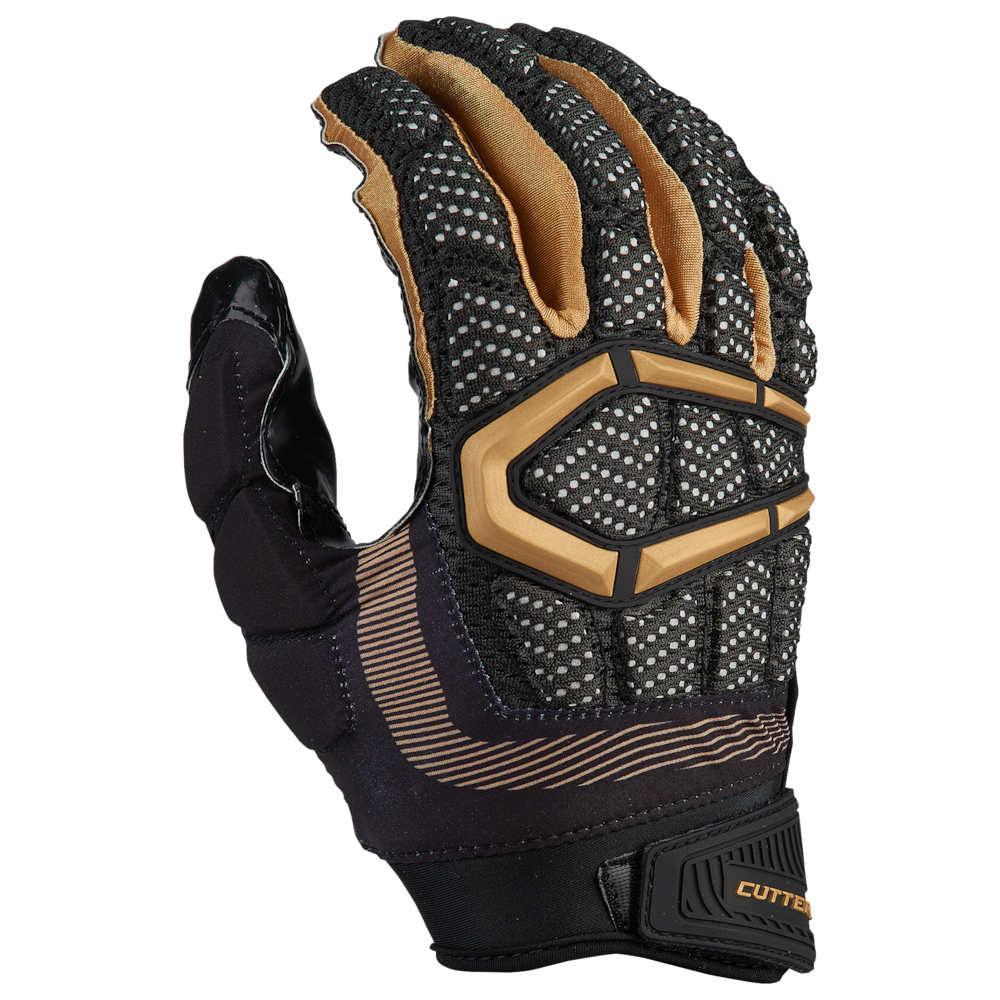 カッターズ Cutters メンズ アメリカンフットボール グローブ【Gamer 3.0 Padded Football Gloves】Black/Metallic Gold