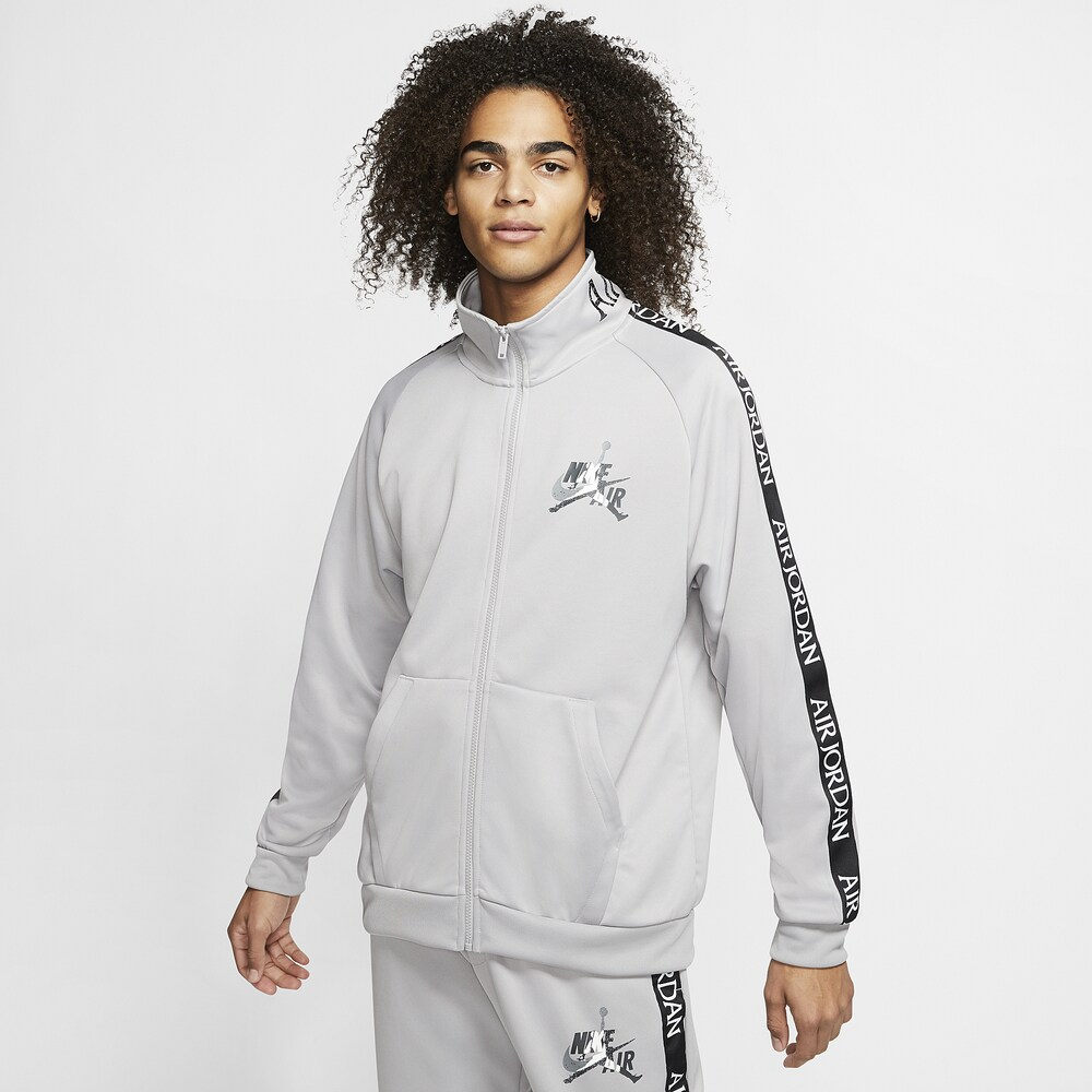 ナイキ ジョーダン Jordan メンズ ジャケット アウター【Jumpman Classics Tricot Warm-Up Jacket】Atmosphere Grey/Black/White