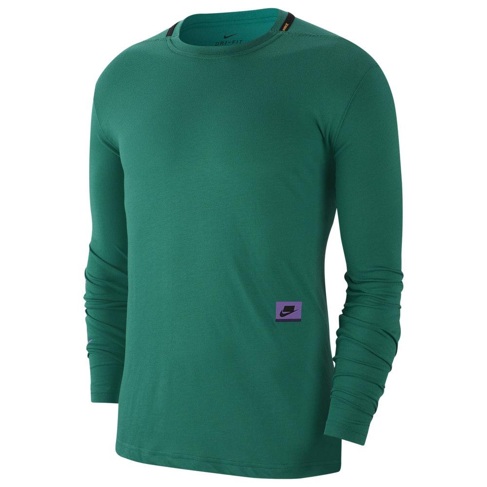 ナイキ Nike メンズ 長袖Tシャツ トップス【Dry PX Longsleeve Top】Mystic Green/Kumquat/Bright Violet