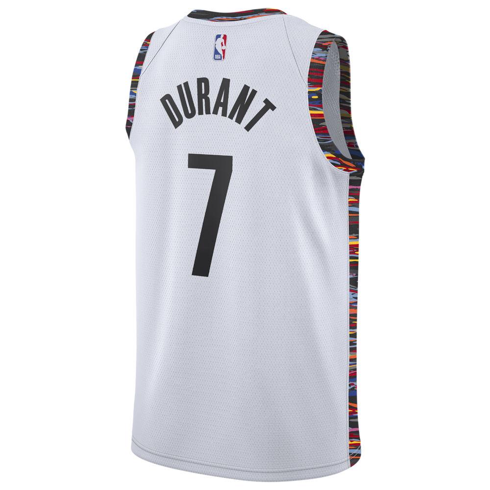 ナイキ Nike メンズ バスケットボール トップス【NBA City Edition Swingman Jersey】NBA/Brooklyn Nets/Kevin Durant/White