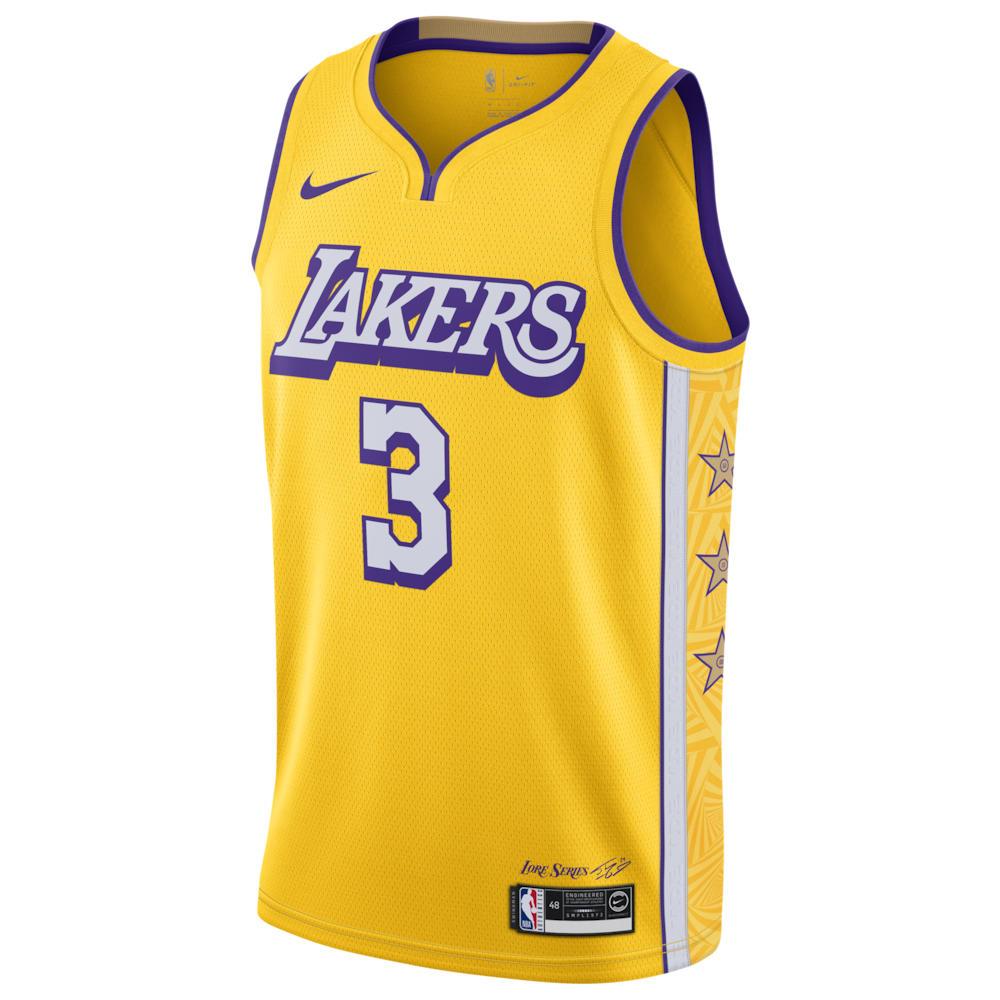 ナイキ Nike メンズ バスケットボール トップス【NBA City Edition Swingman Jersey】NBA/Los Angeles Lakers/Anthony Davis/Armarillo