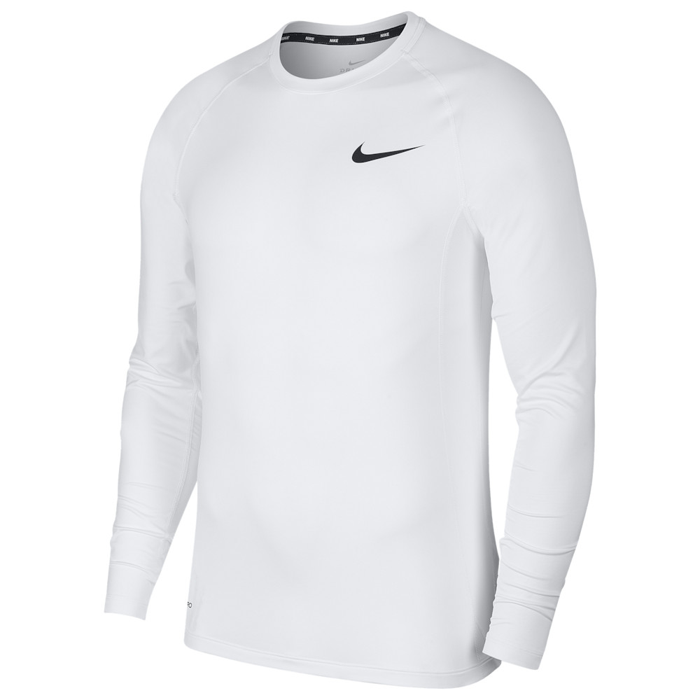 ナイキ Nike メンズ フィットネス・トレーニング トップス【Pro Fitted Long Sleeve Top】White/Black