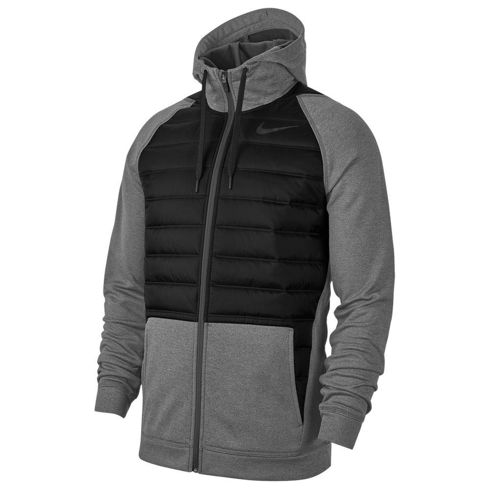 ナイキ Nike メンズ フィットネス・トレーニング ジャケット アウター【Therma F/Z Winterized Jacket】Charcoal Heather/Black