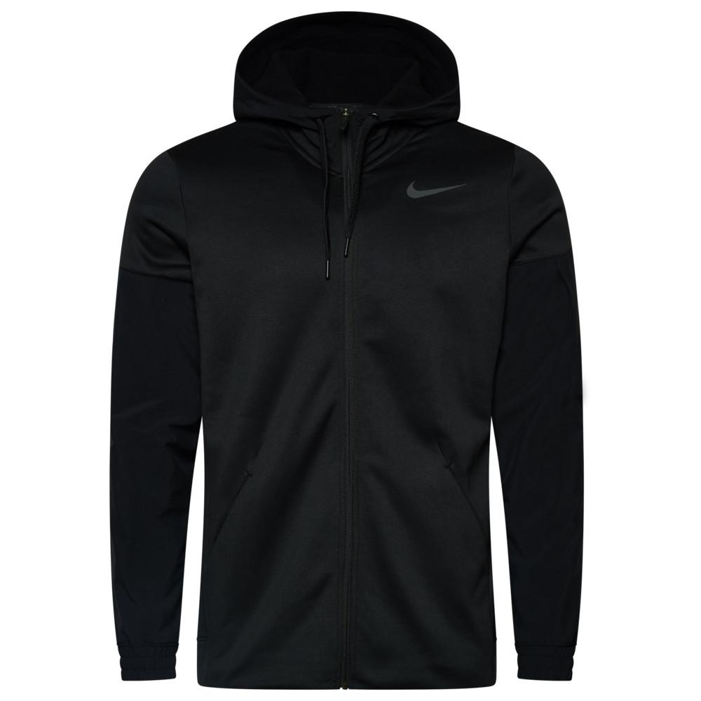 ナイキ Nike メンズ フィットネス・トレーニング パーカー トップス【Therma Fleece Plus Full Zip Hoodie】Black/Dark Grey