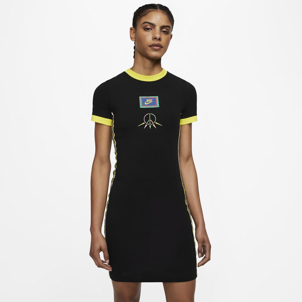 ナイキ Nike レディース ワンピース ワンピース・ドレス【PEACE ESSENTIAL DRESS】Black/Optic Yellow