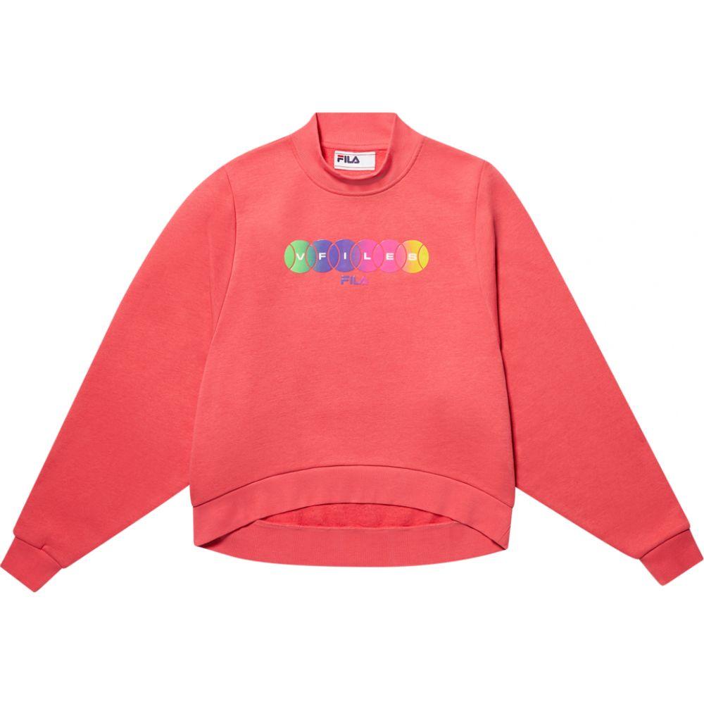 フィラ Fila レディース スウェット・トレーナー トップス【X VFILES Honza Sweatshirt】Rouge Red