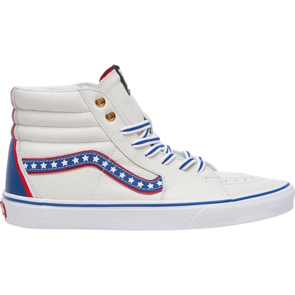 ヴァンズ Vans メンズ スケートボード シューズ・靴【Sk8 Hi】True White/Racing Red