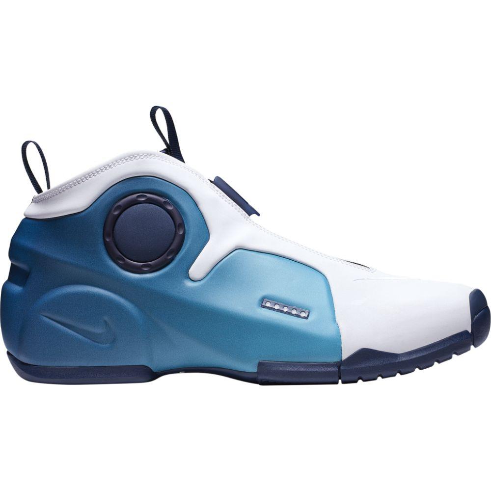 ナイキ Nike メンズ バスケットボール シューズ・靴【Air Flightposite 2】White/Midnight Navy/Blue Gaze