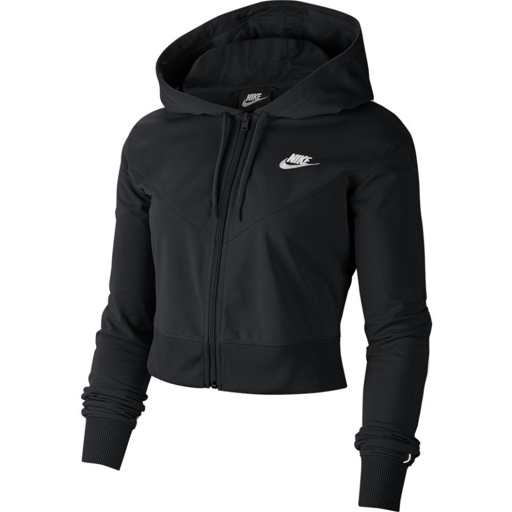 ナイキ Nike レディース パーカー トップス【Heritage Full Zip Hoodie】Black/White/White