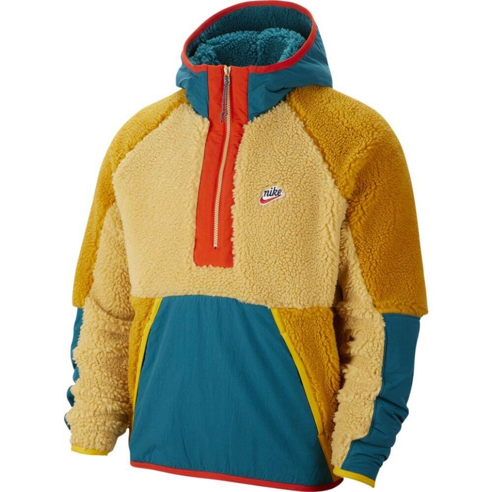 ナイキ Nike メンズ ジャケット アウター【Heritage Essentials Half Zip Sherpa Jacket】Club Gold/Geode Teal/Gold Suede
