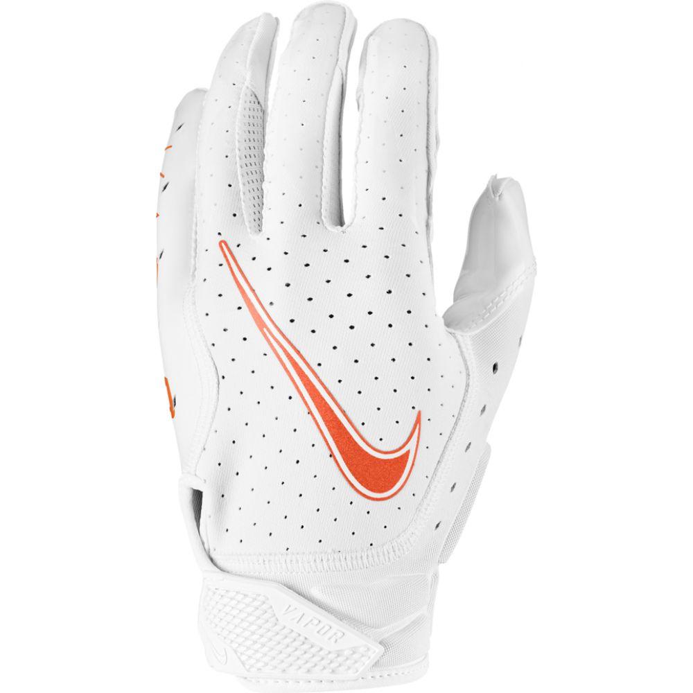 ナイキ Nike メンズ アメリカンフットボール レシーバーグローブ グローブ【vapor jet 6.0 receiver gloves】White/White/Team Orange