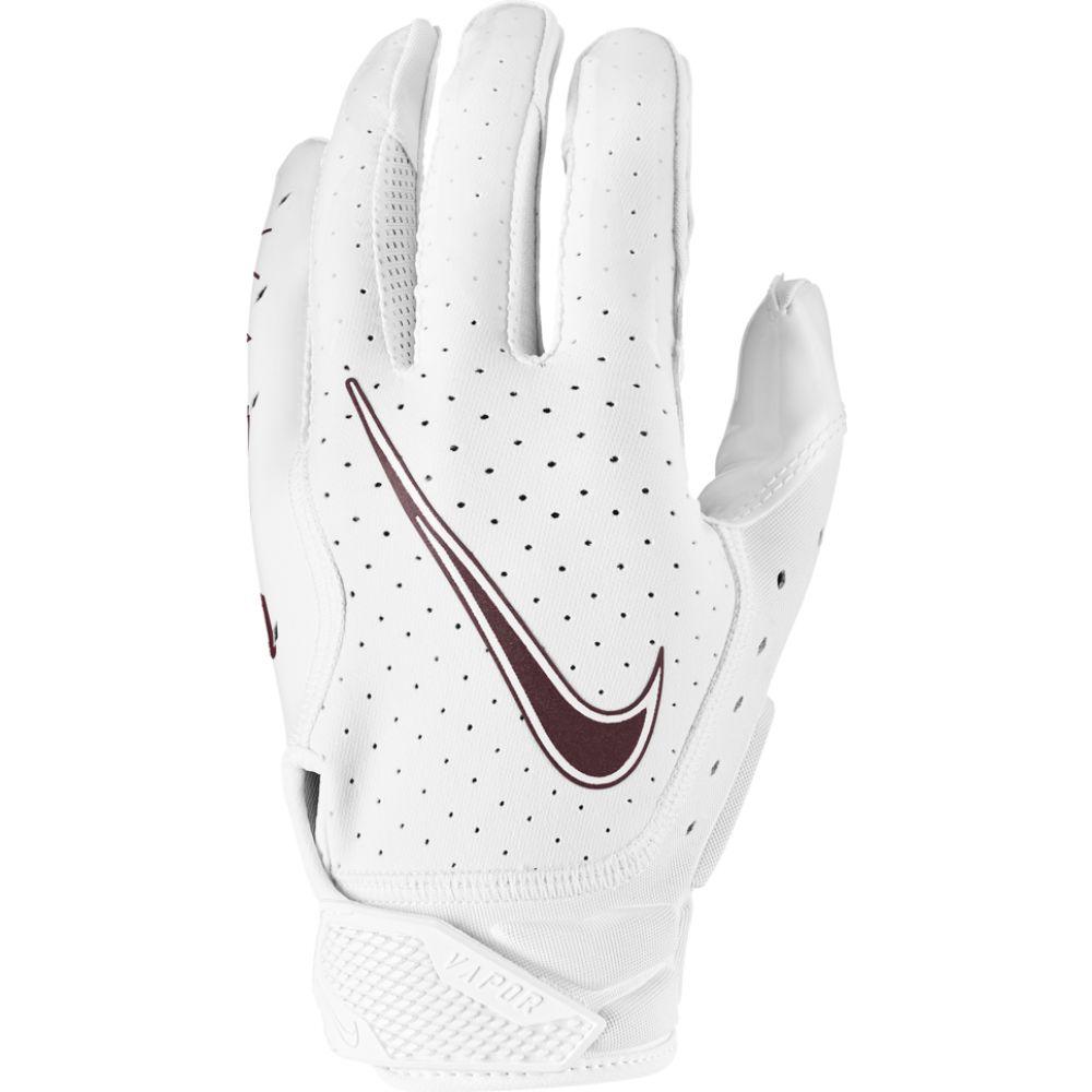 ナイキ Nike メンズ アメリカンフットボール レシーバーグローブ グローブ【vapor jet 6.0 receiver gloves】White/White/Deep Maroon