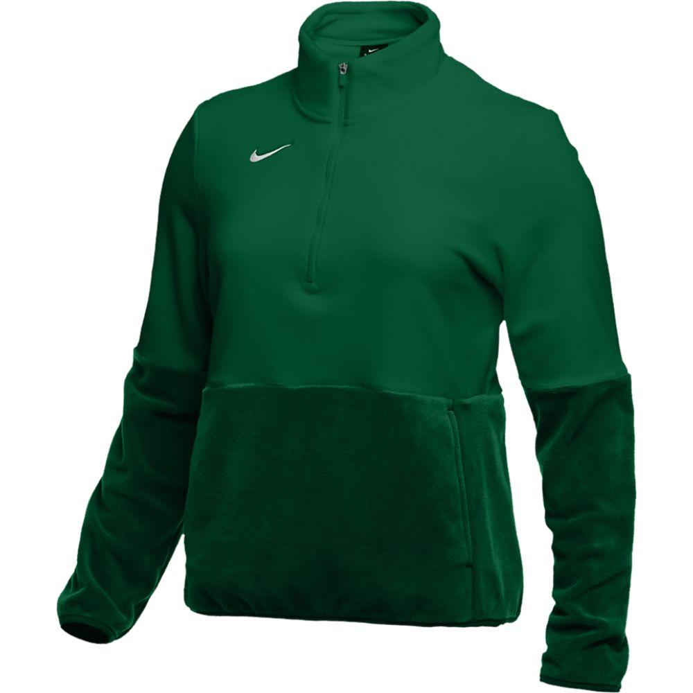 ナイキ Nike レディース フィットネス・トレーニング ハーフジップ トップス【team authentic fleece 1/2 zip top】Gorge Green/White