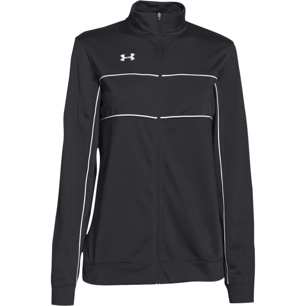 アンダーアーマー Under Armour レディース フィットネス·トレーニング ジャケット アウター【team rival knit warm-up jacket】Black/White