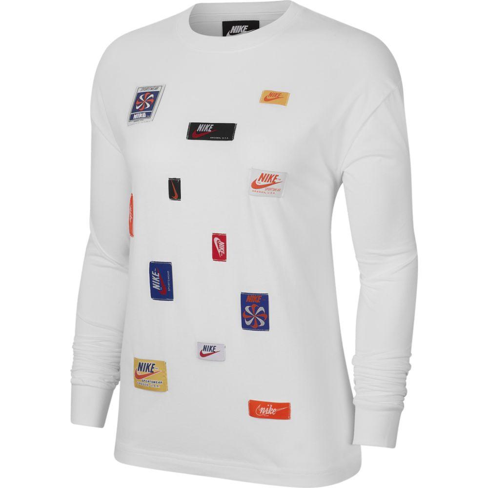 ナイキ Nike レディース 長袖Tシャツ トップス【jdiy long sleeve t-shirt】White