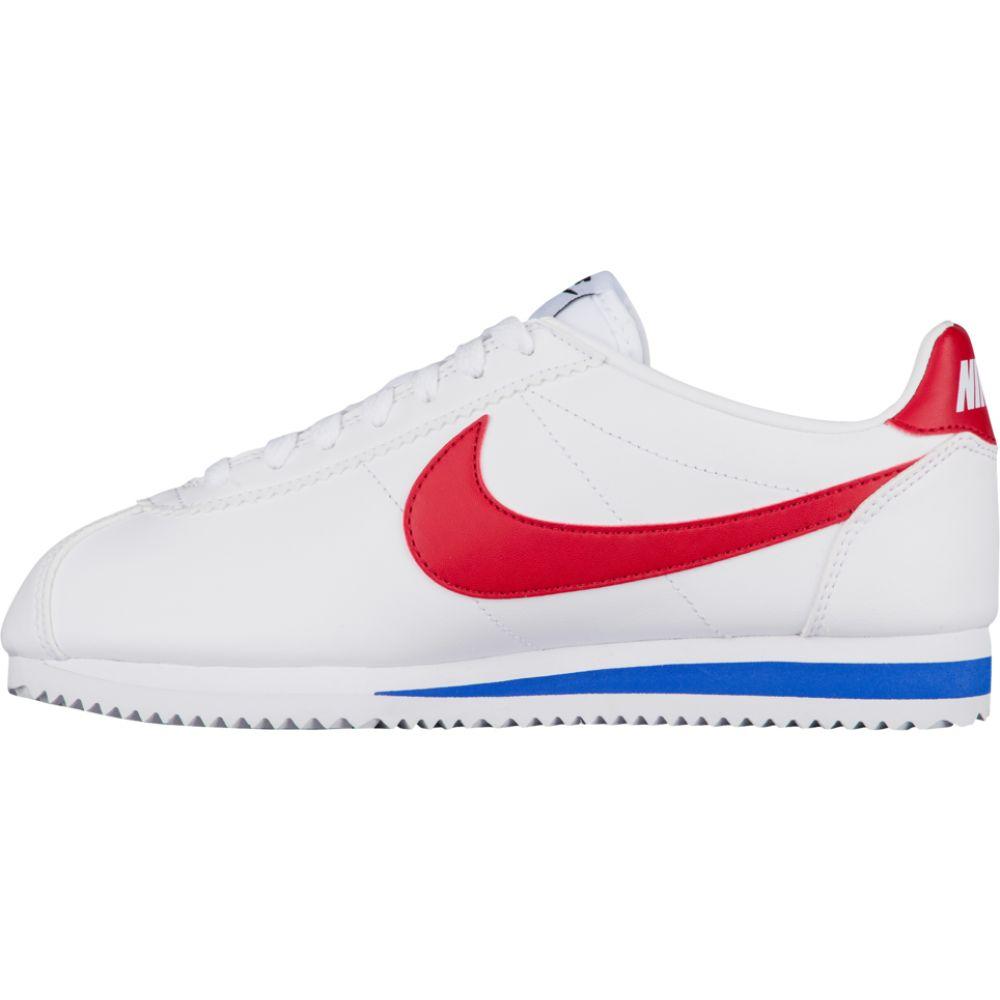 ナイキ Nike レディース ランニング・ウォーキング シューズ・靴【classic cortez】White/Varsity Red/Varsity Royal Leather