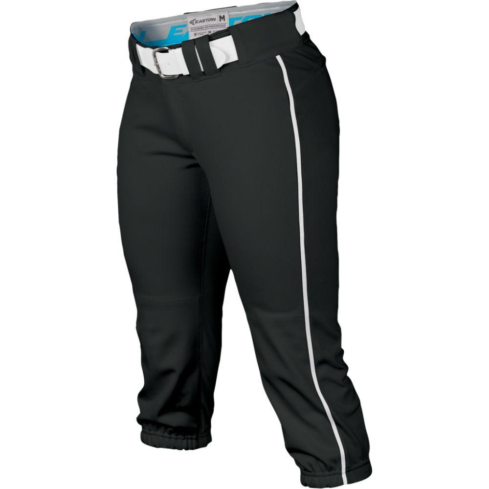 イーストン Easton レディース 野球 ボトムス・パンツ【prowess piped softball pants】Black/White