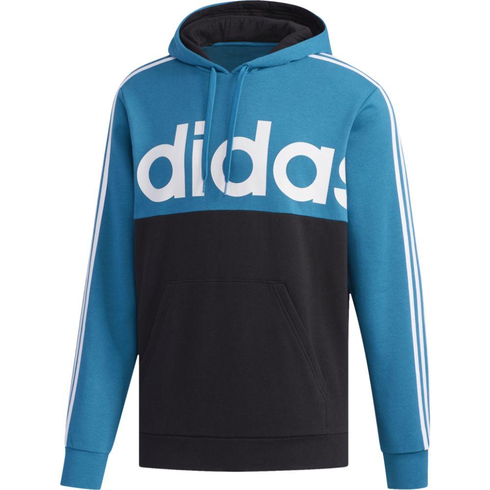 アディダス adidas Athletics メンズ パーカー トップス【essential colorblock po hoodie】Active Teal/Black/White