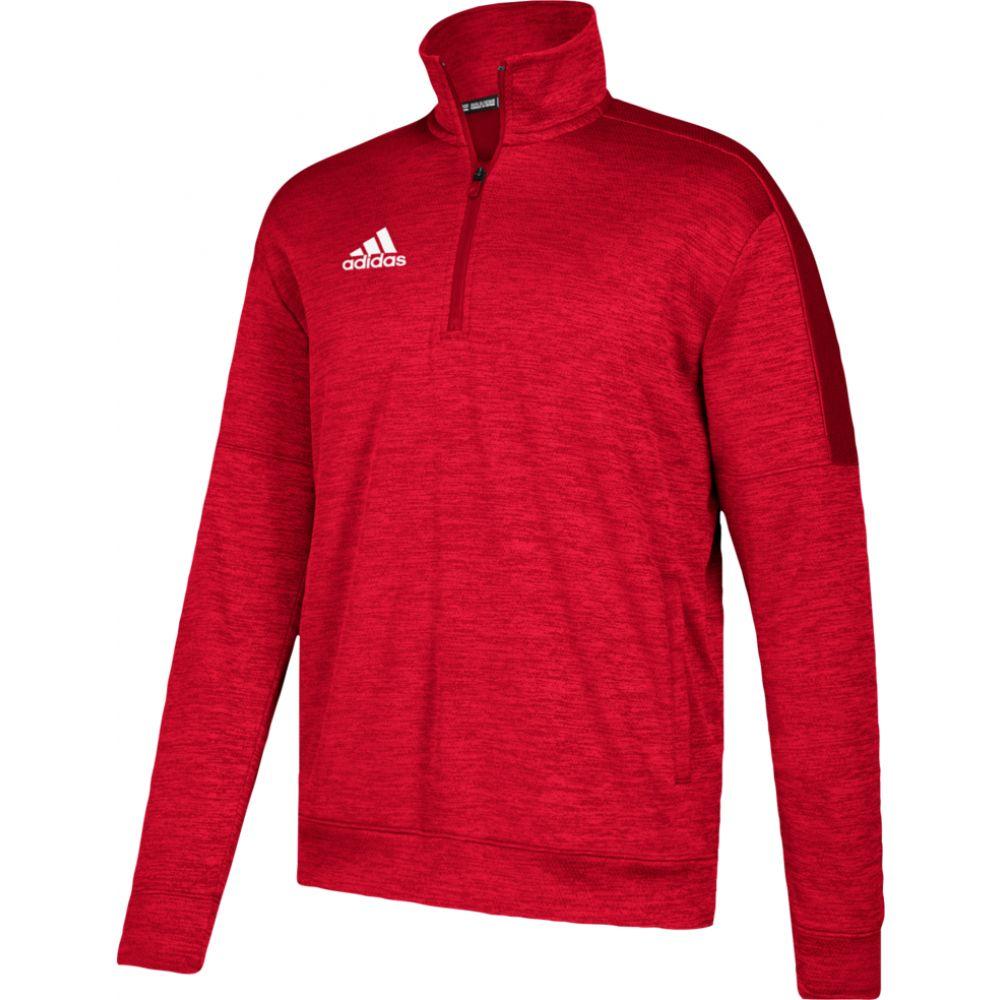 アディダス adidas メンズ フリース トップス【team issue fleece 1/4 zip】Power Red/White