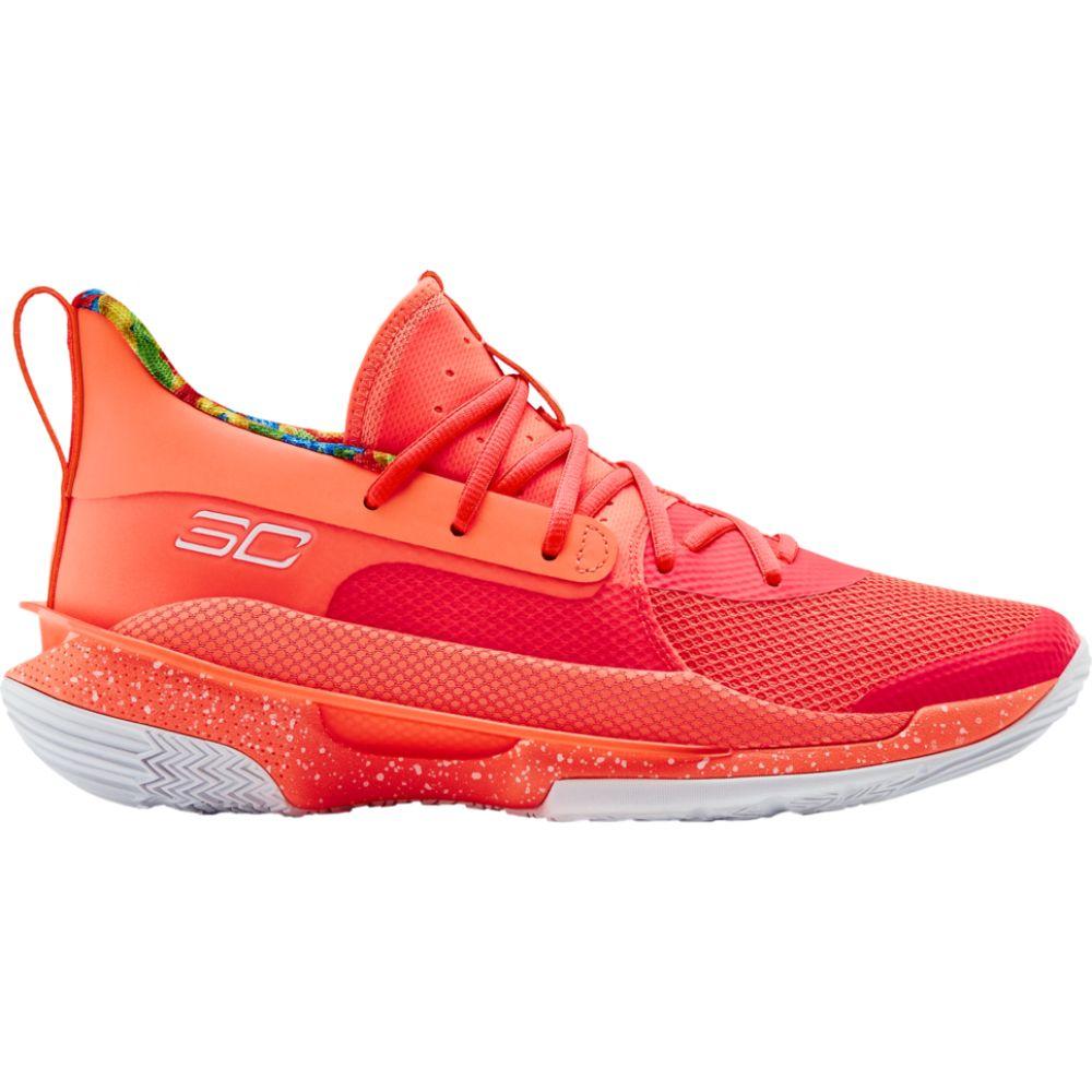 アンダーアーマー Under Armour メンズ バスケットボール シューズ・靴【curry 7】Stephen Curry Peach Plasma/White