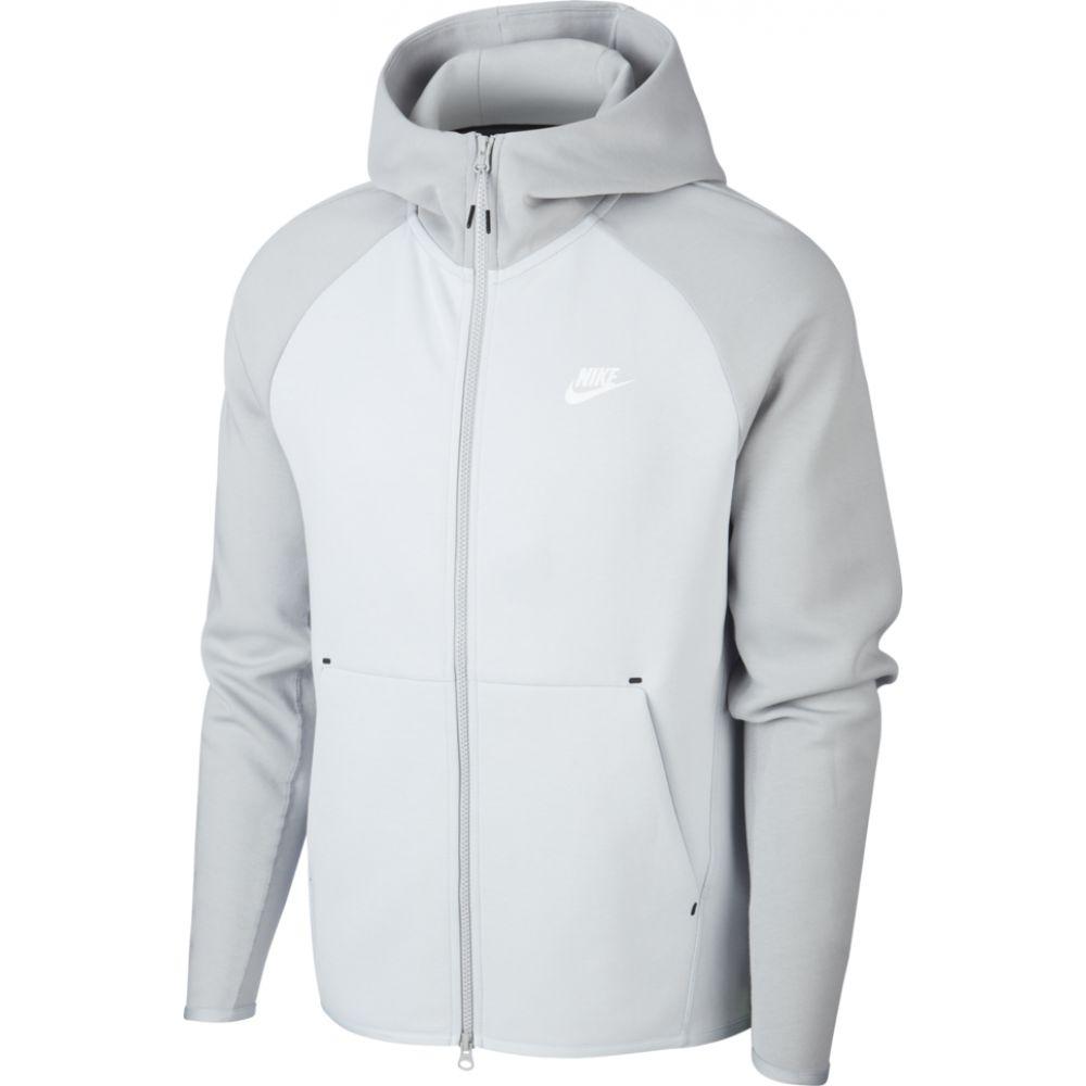 ナイキ Nike メンズ パーカー トップス【tech fleece full-zip hoodie】Pure Platinum/Light Smoke Grey