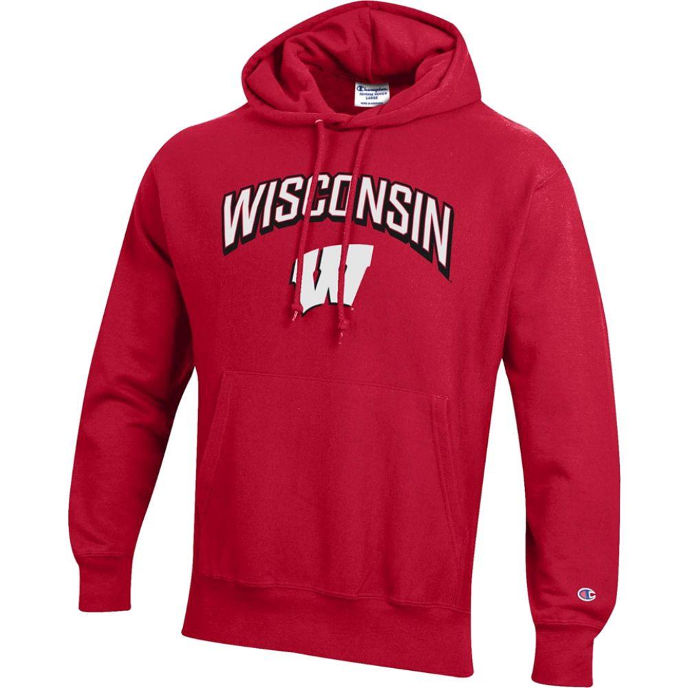 チャンピオン Champion メンズ パーカー トップス【college reverse weave pullover hoodie】NCAA Wisconsin Badgers Scarlet