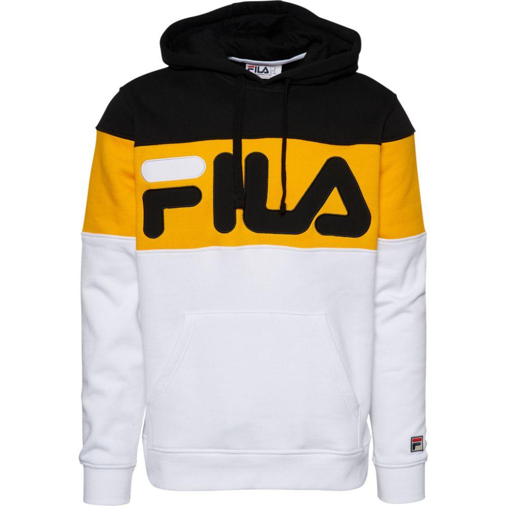 フィラ Fila メンズ パーカー トップス【flamino fleece hoodie】Black/Gold Fusion/White