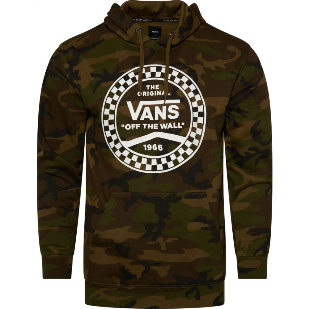 ヴァンズ Vans メンズ パーカー トップス【checkered side stripe front po hoodie】Camo