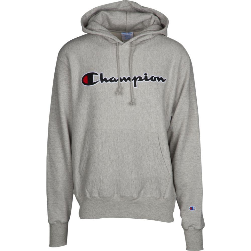 チャンピオン Champion メンズ パーカー トップス【reverse weave graphic fleece hoodie】Grey/Black