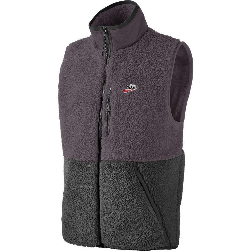ナイキ Nike メンズ ベスト・ジレ トップス【heritage essentials sherpa vest】Off Noir/Black