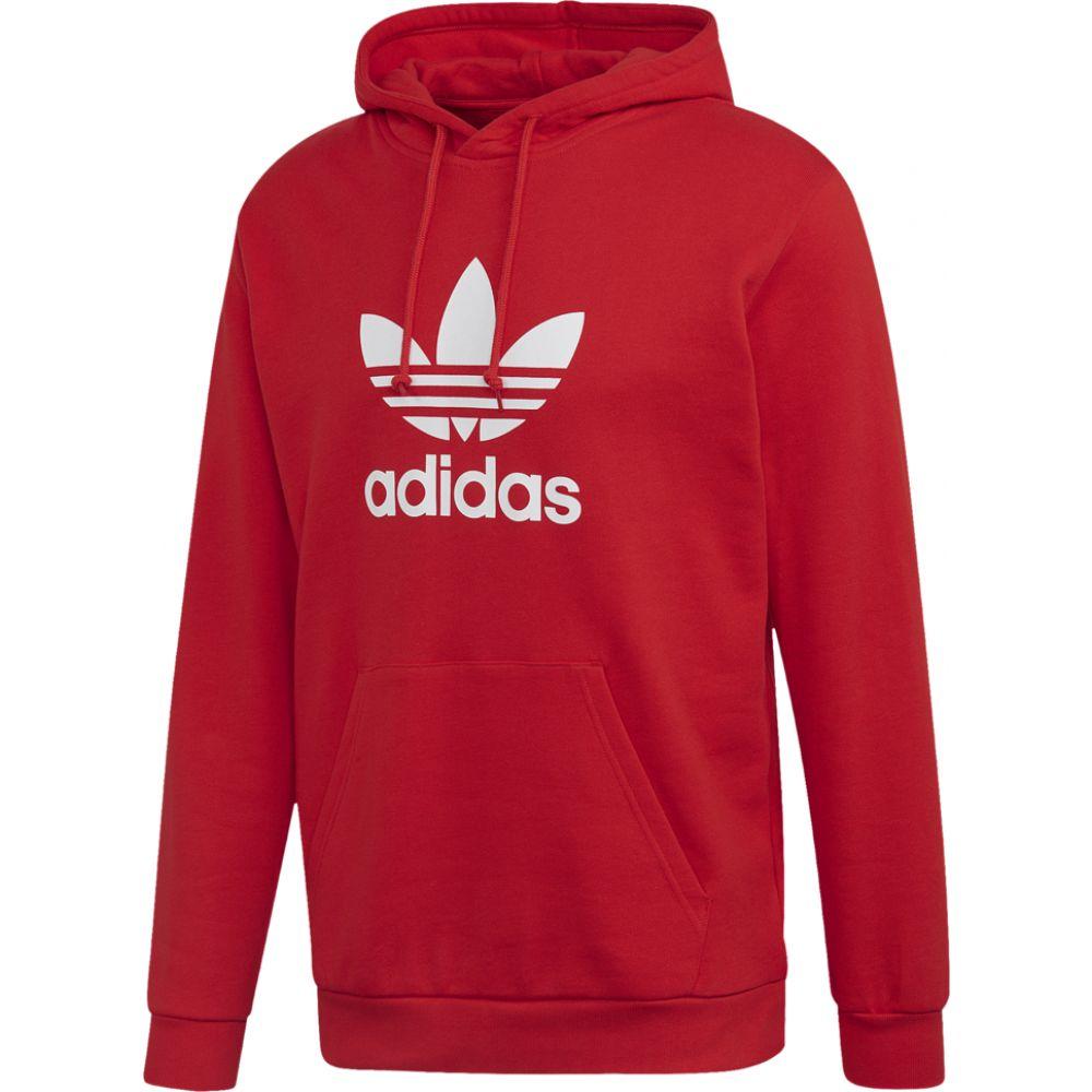 アディダス adidas Originals メンズ パーカー トップス【trefoil p/o hoodie】Lush Red/White