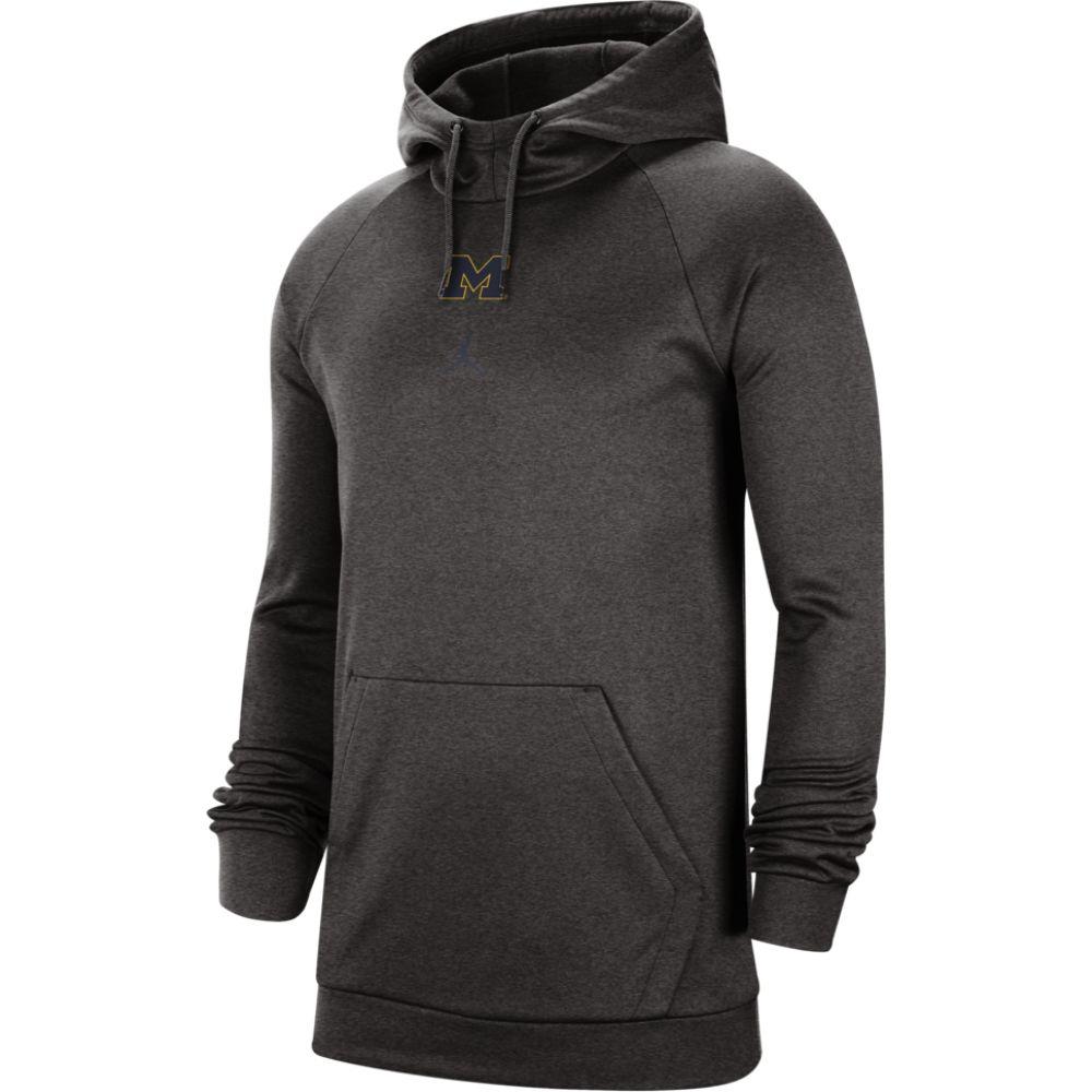 ナイキ ジョーダン Jordan メンズ パーカー トップス【college j practice po fleece hoodie】NCAA Michigan Wolverines Carbon Heather