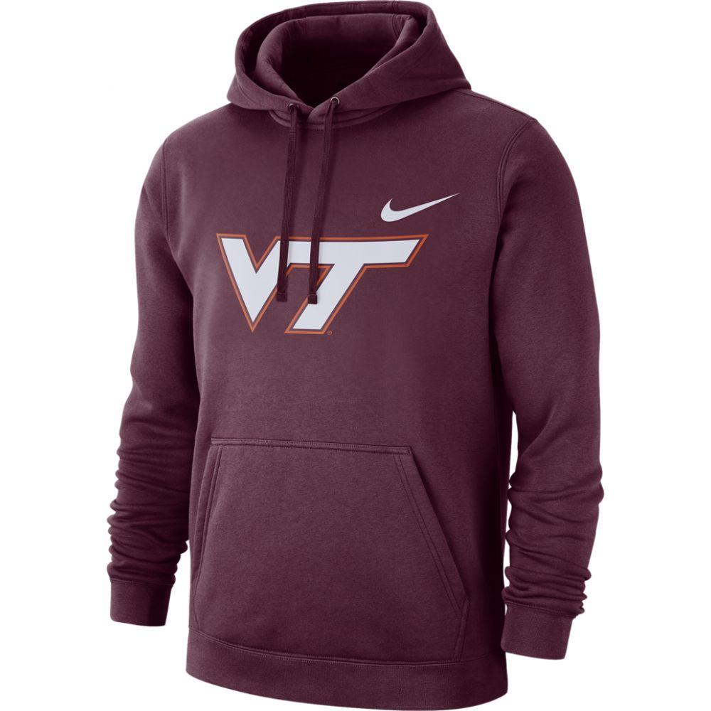 ナイキ Nike メンズ パーカー トップス【college team club pullover hoodie】NCAA Virginia Tech Hokies Deep Maroon