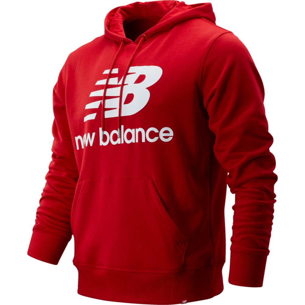 ニューバランス New Balance メンズ パーカー トップス【essentials stacked logo pullover hoodie】Red