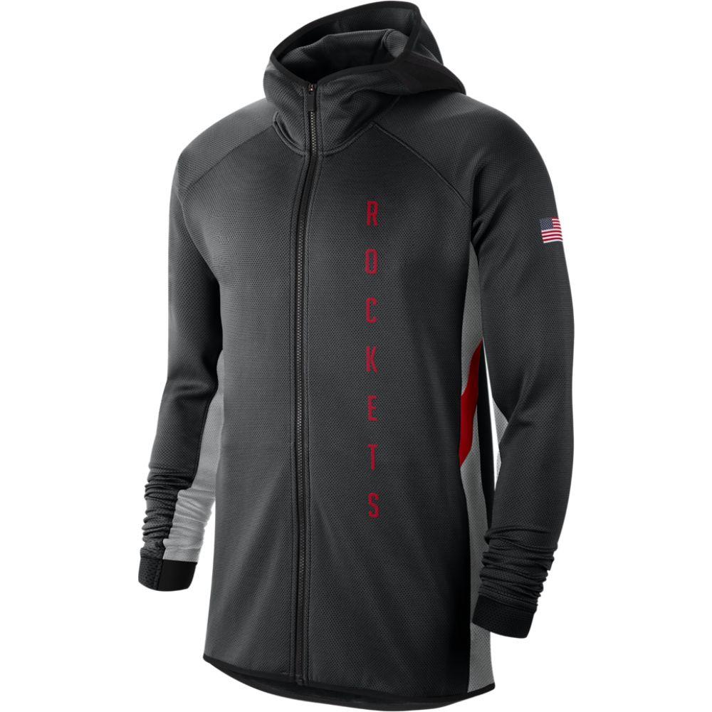 ナイキ Nike メンズ パーカー トップス【nba city edition thermaflex showtime hoodie】NBA Houston Rockets Black/Flint Silver Earned