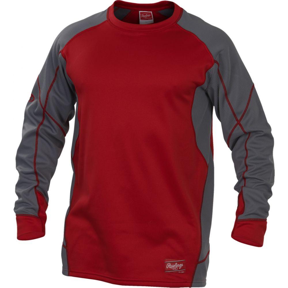ローリングス Rawlings メンズ フリース トップス【dugout fleece pullover】Scarlet