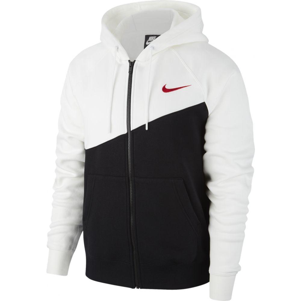 ナイキ Nike メンズ パーカー トップス【swoosh full-zip hoodie】Black/White/University Red