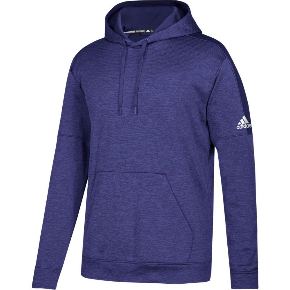 アディダス adidas メンズ フィットネス・トレーニング パーカー トップス【team issue fleece pullover hoodie】Collegiate Purple/White