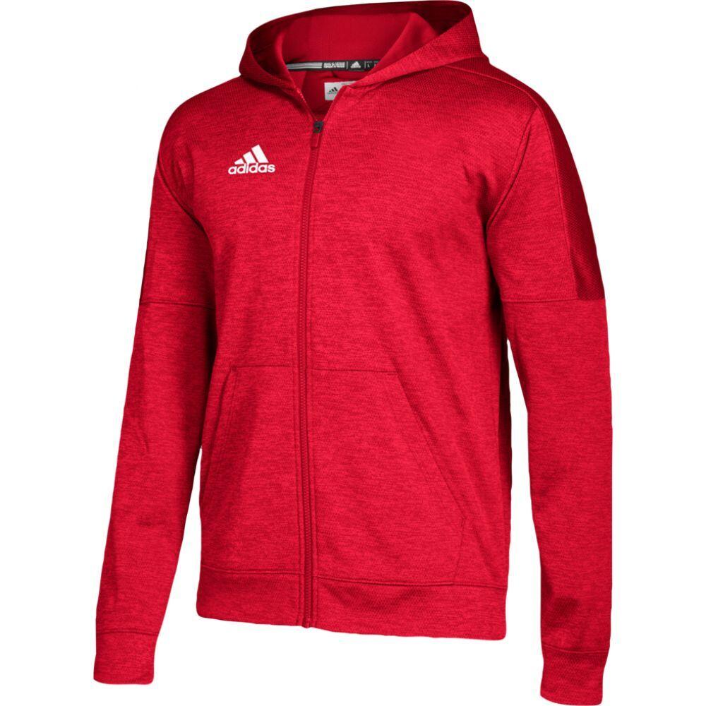 アディダス adidas メンズ フィットネス・トレーニング パーカー トップス【team issue fleece full zip hoodie】Power Red/White