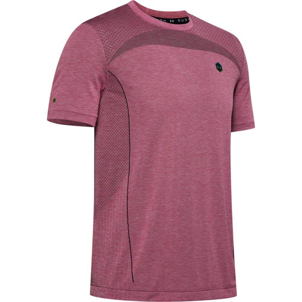 アンダーアーマー Under Armour メンズ フィットネス・トレーニング Tシャツ トップス【rush seamless hg fitted t-shirt】Pink Surge/Black