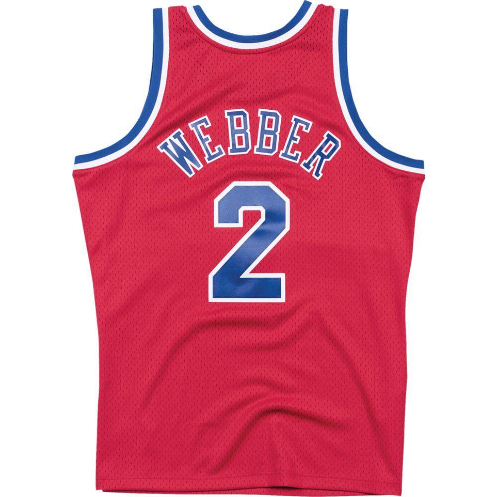 ミッチェル&ネス Mitchell & Ness メンズ バスケットボール トップス【nba swingman jersey】NBA Washington Wizards Chris Webber Red 1994 to 1995