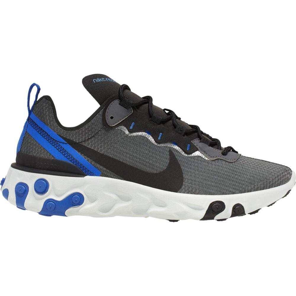 ナイキ Nike メンズ ランニング・ウォーキング シューズ・靴【react element 55】Black/Black/Racer Blue/Summit White SE