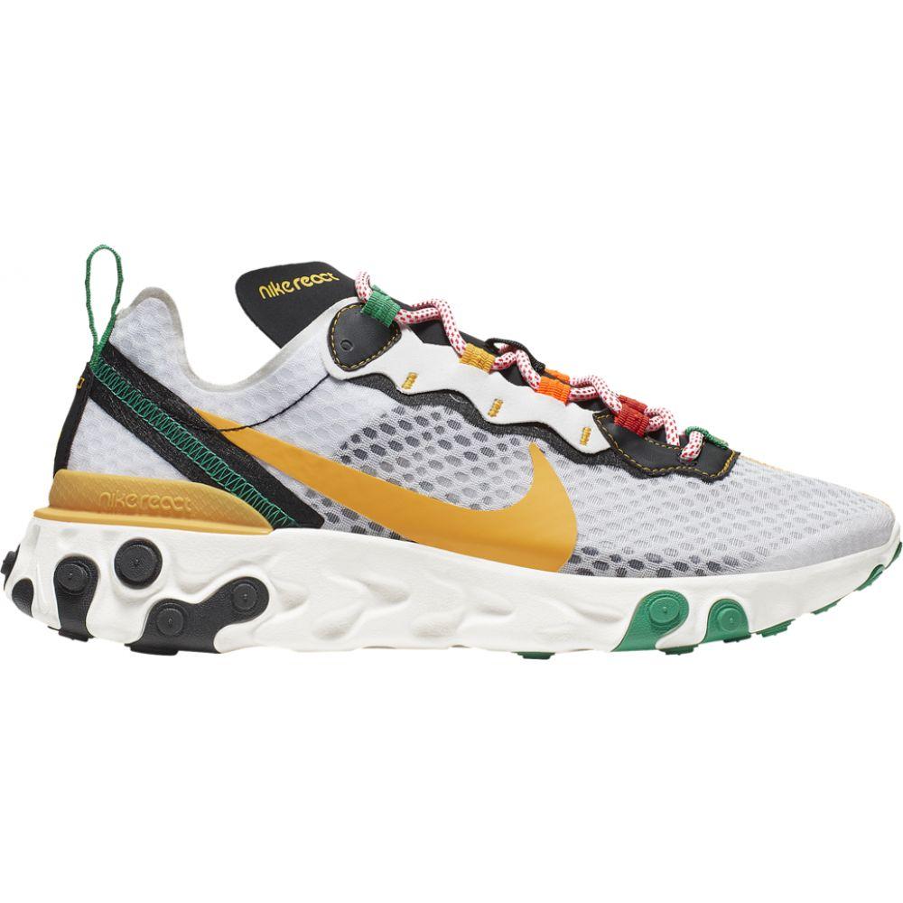 ナイキ Nike メンズ ランニング・ウォーキング シューズ・靴【react element 55】White/University Gold/Black/Lucid Green