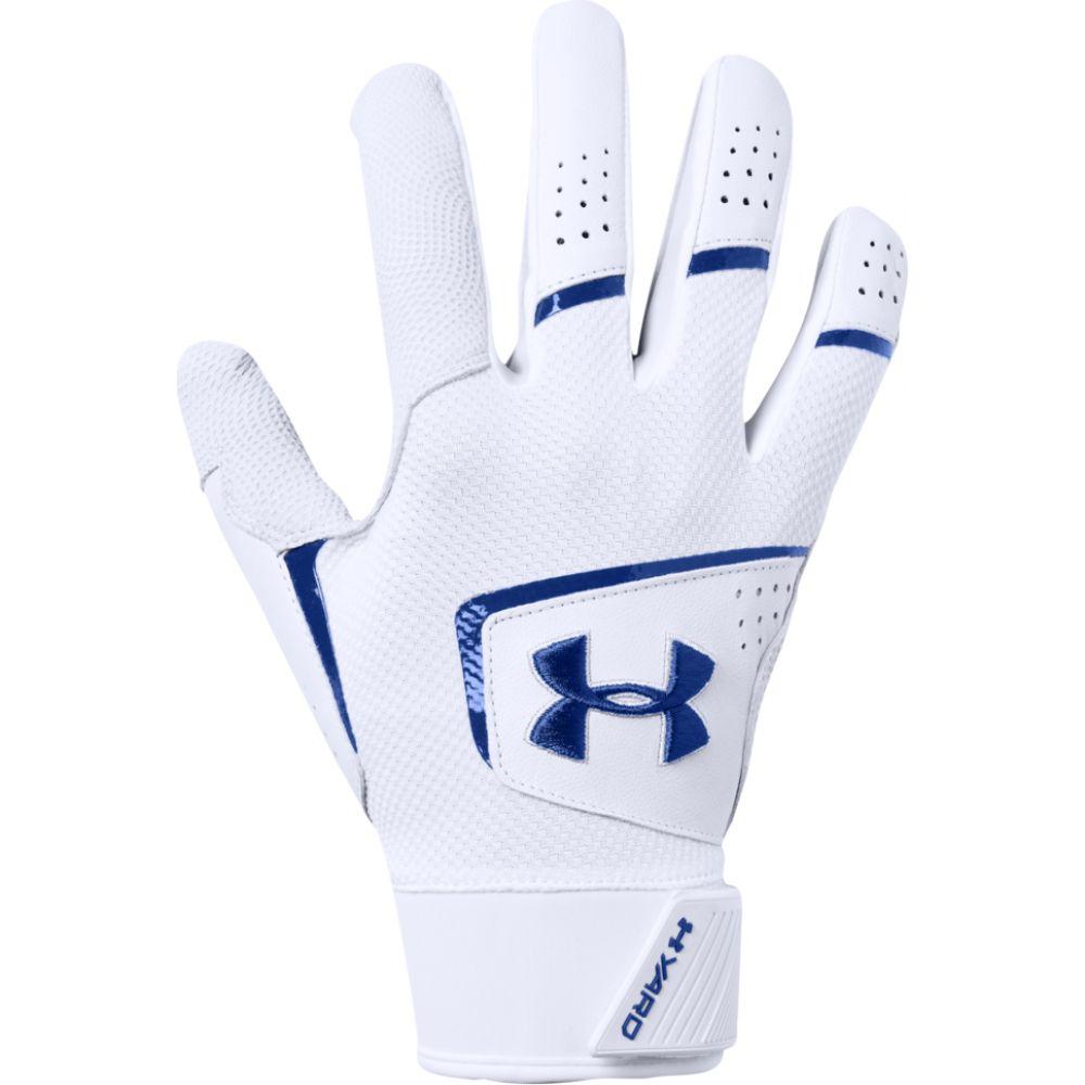 アンダーアーマー Under Armour メンズ 野球 バッティンググローブ グローブ【yard 19 batting gloves】White/Royal/Royal