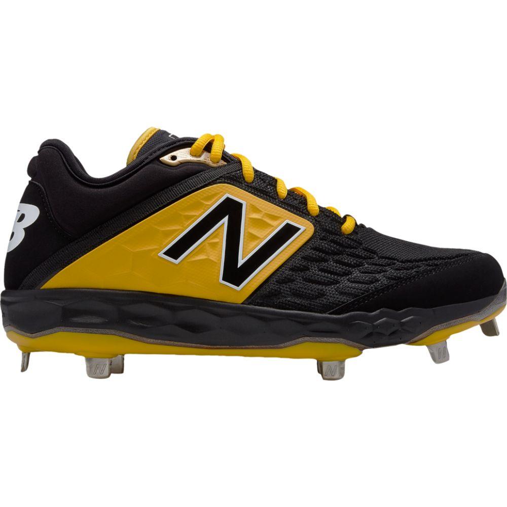 ニューバランス メンズ 野球 即納最大半額 シューズ ついに再販開始 靴 Black Yellow 3000v4 Low サイズ交換無料 New Balance Metal