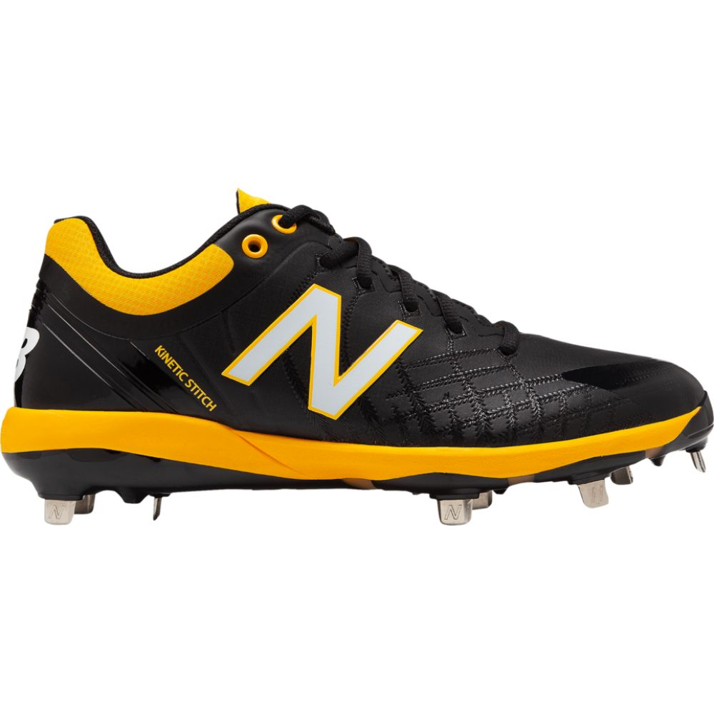 <title>ニューバランス メンズ 野球 シューズ 靴 Black Yellow サイズ交換無料 日本正規代理店品 New Balance 4040v5 metal low</title>