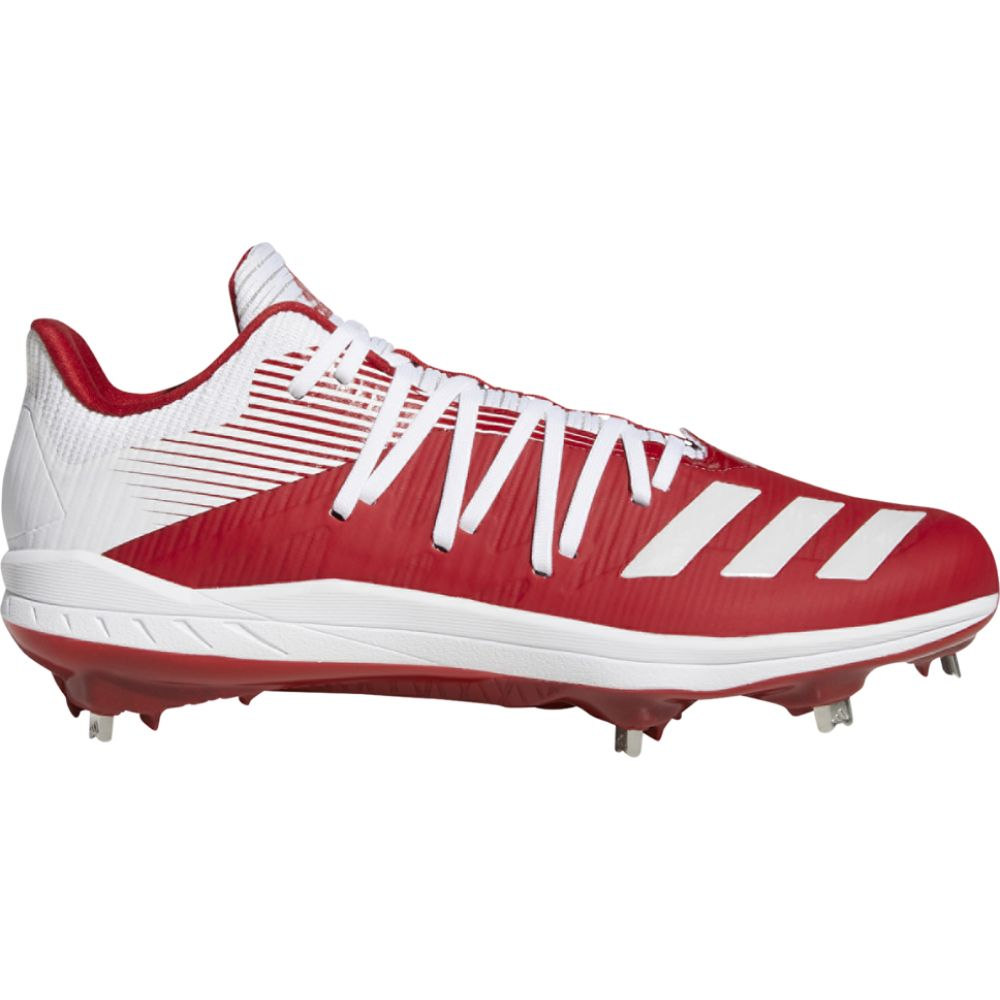 アディダス adidas メンズ 野球 シューズ・靴【adizero afterburner 6】Power Red/White/Silver Metallic