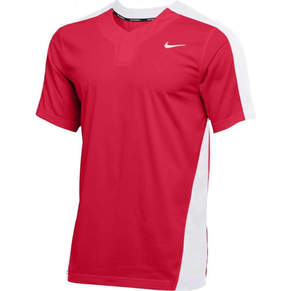 ナイキ Nike メンズ 野球 トップス【team vapor select 1-button jersey】Scarlet/White/White