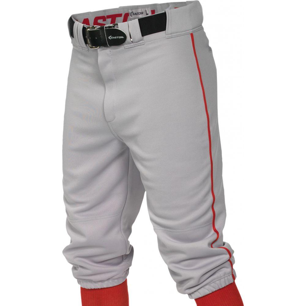 イーストン Easton メンズ 野球 ボトムス・パンツ【pro + knicker piped baseball pants】Grey/Red